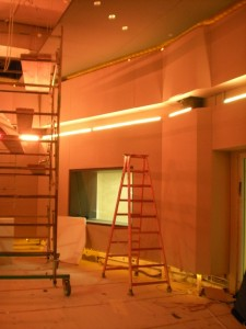 Acoustic Wall Installation