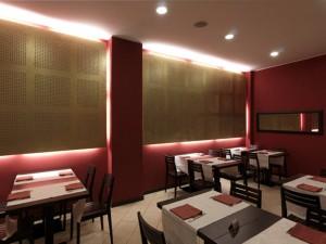 Un ristorante acusticamente trattato