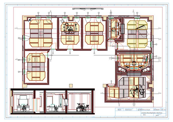 La planimetria, la definizione degli spazi e la disposizione degli apparati